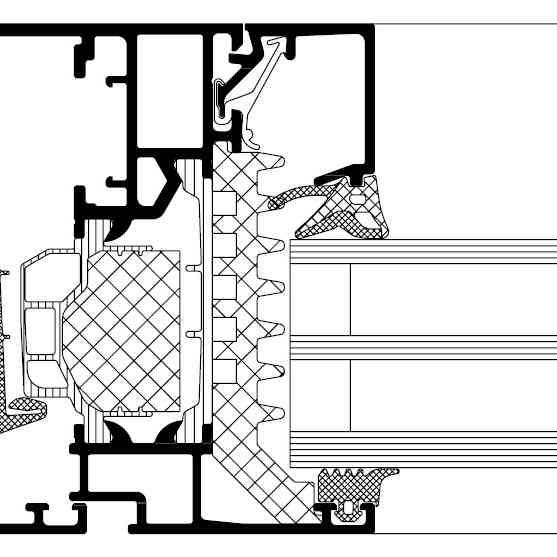 структура прозорци Schuco AWS 75.SI+