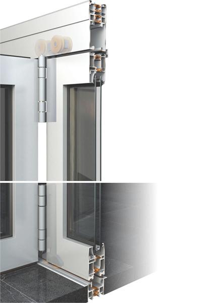 Алуминиево плъзгане за портали тип хармоника Alumil M19800 / M9800