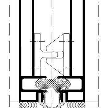 структура Алуминиеви окачени фасади Schüco UCC 65 SG