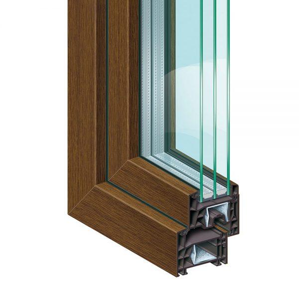 Система за Пвц прозорци и врати KÖMMERLING 76 - кафяво
