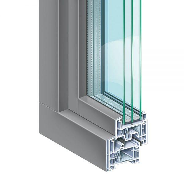 Система за Пвц прозорци и врати KÖMMERLING 76 - сиво