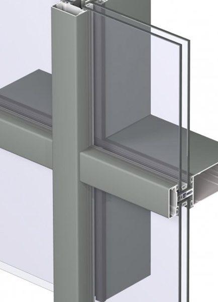 Алуминиева система за окачени фасади Reynaers CW 50