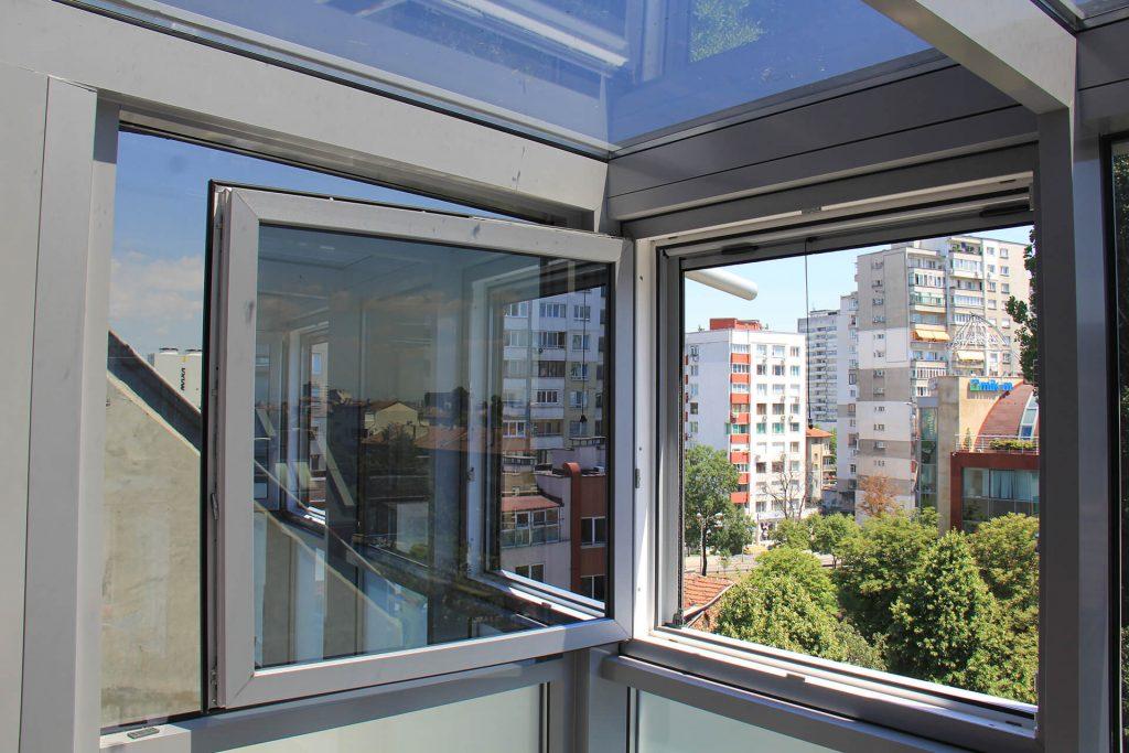 Частен дом – кв.Хиподрума, зимна градина със стъклен покрив Alumil M-7
