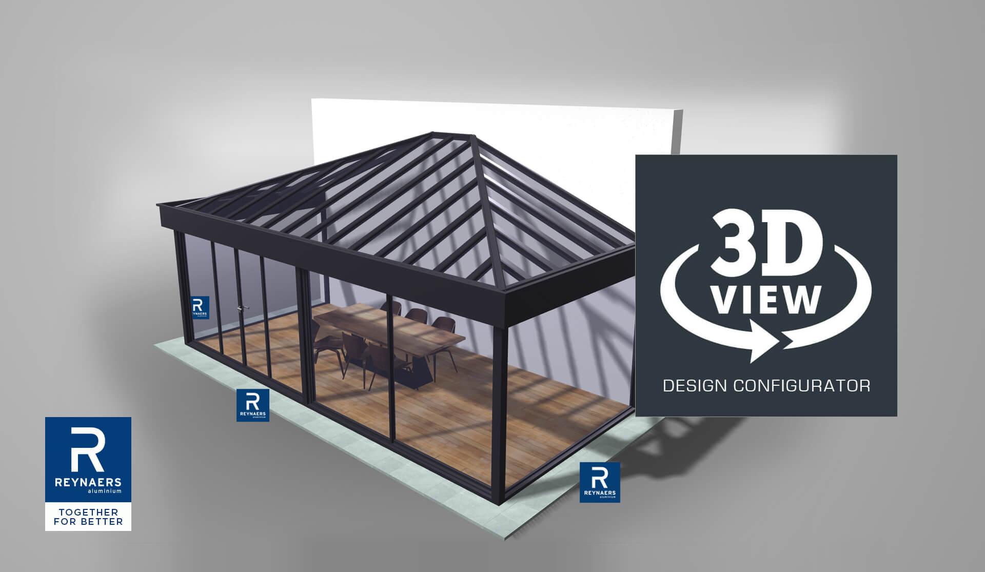 3D Конфигуратор за зимни градини Reynaers