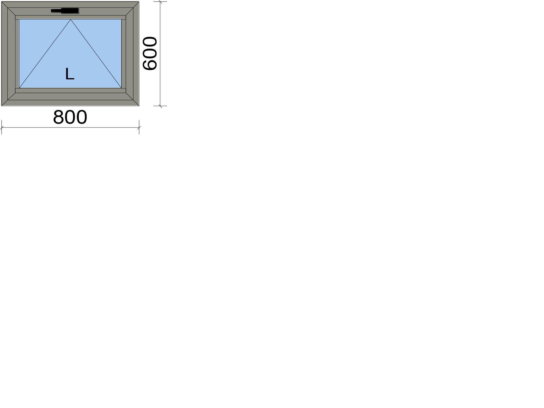 Прозорец с едноосово отваряемо крило