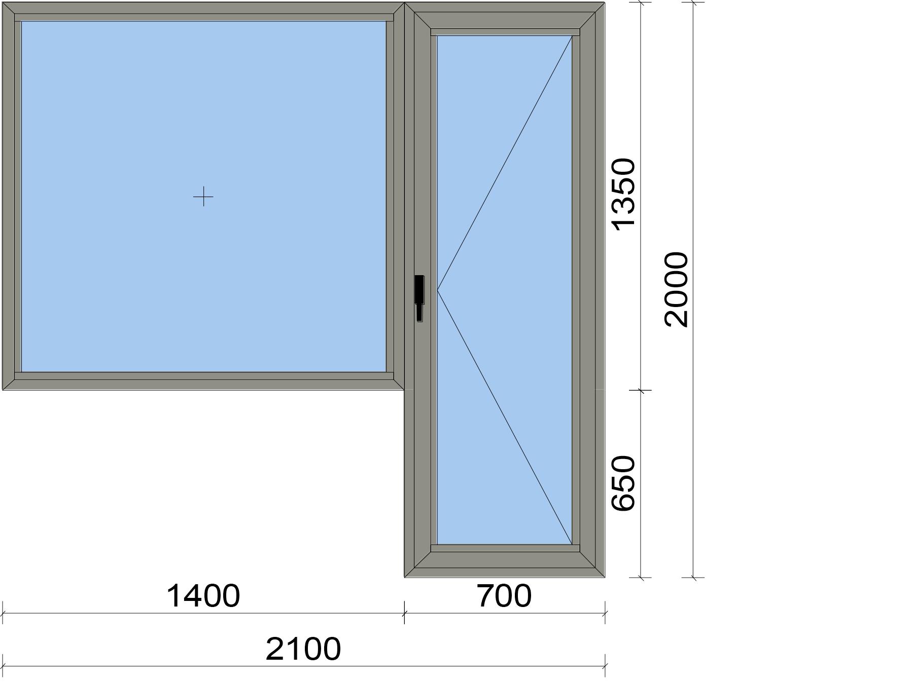 Едноосова отваряема врата с неотваряем прозорец (пистолет)